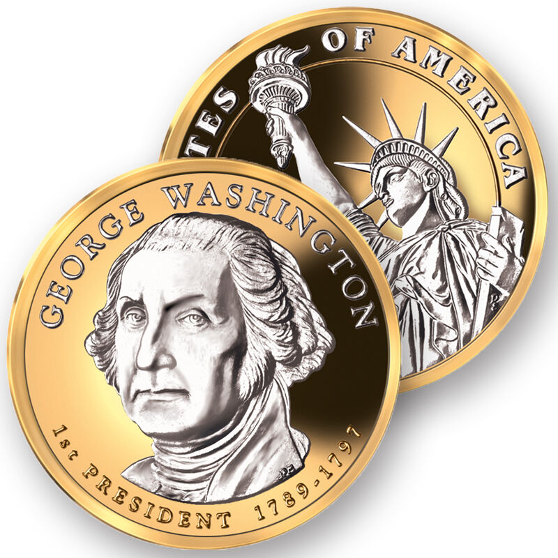 Platinum and Gold Highlighted US Presidential Coins PPG 1