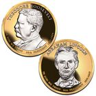Platinum and Gold Highlighted US Presidential Coins PPG 4
