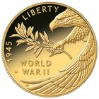 end of world war ii 75th anniversary proof gold coin GW2 a Main
