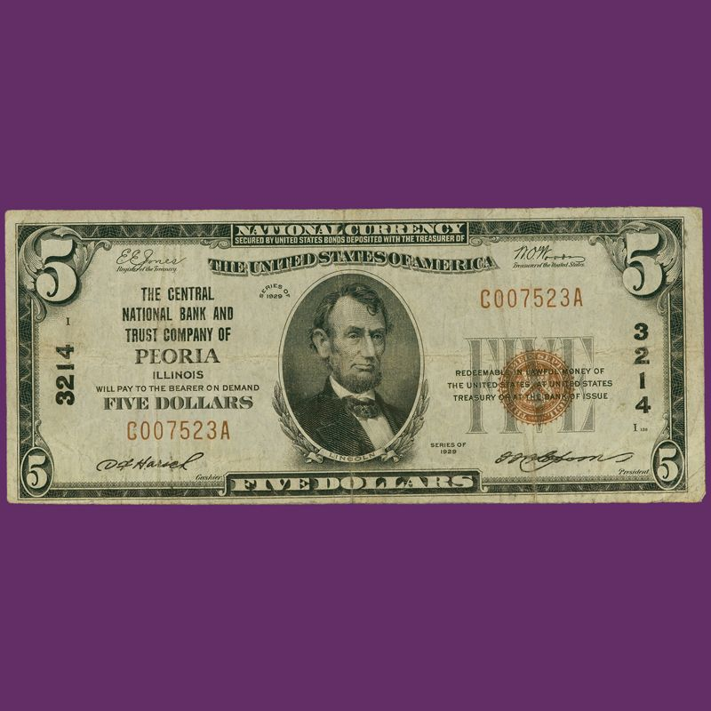 The Complete Denomination Set of 1929 National Bank Notes NBL 2