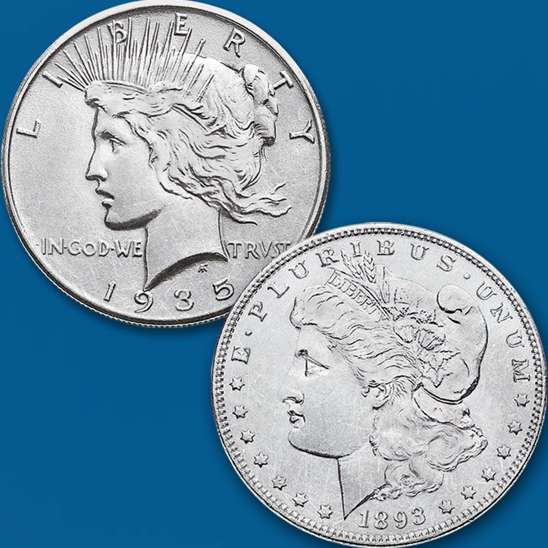 The Complete Morgan and Peace Silver Dollar Collection PMC 1
