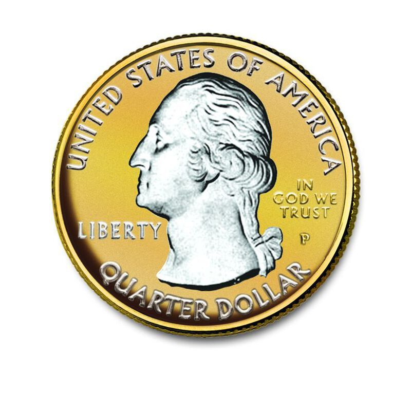 The Platinum  Gold Highlighted US State Quarters Collection AB2 3