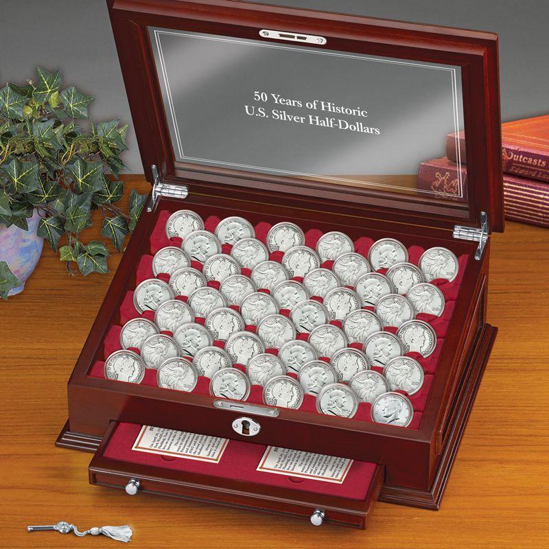 50 Years of Historic US Silver Half Dollars SH5 2