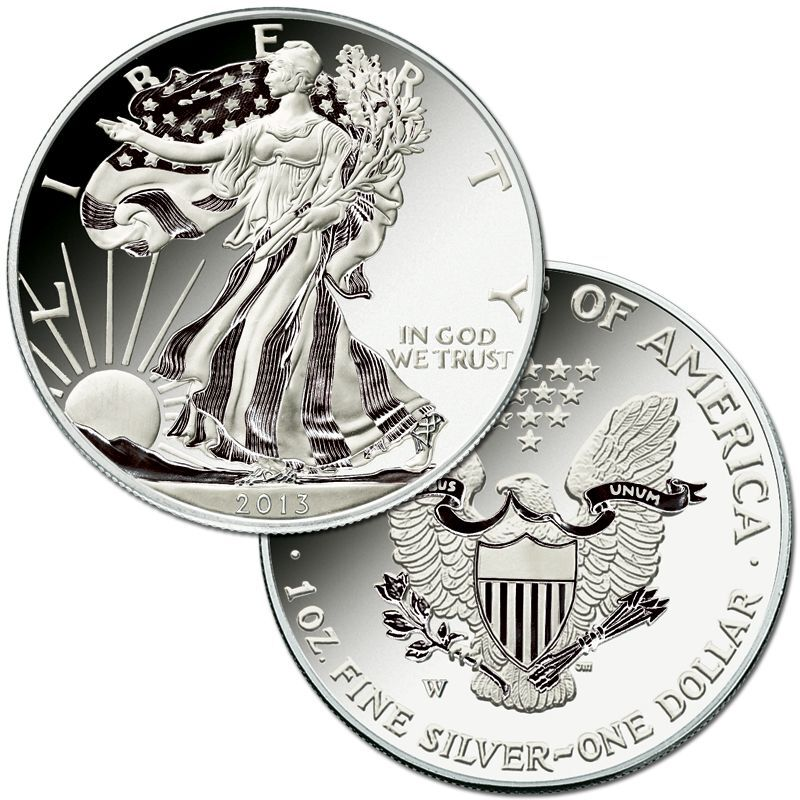 The Complete Set of American Eagle Silver Dollars SET 1