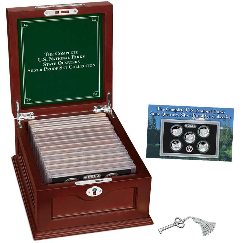The Complete US National Parks State Quarters Silver Proof Set Collection ASP 4