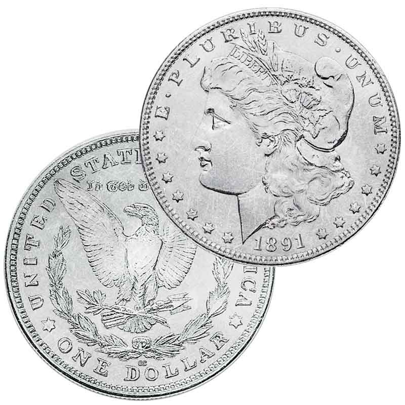 Three Decade Set of Carson City Mint Morgan Silver Dollars MCD 1