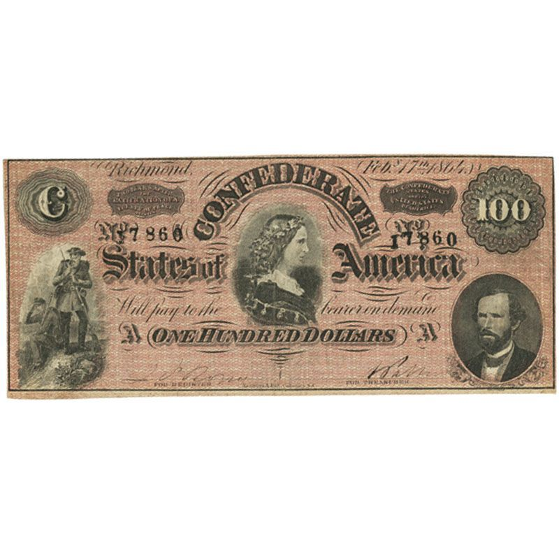 Currency of the Confederate States of America CON 2