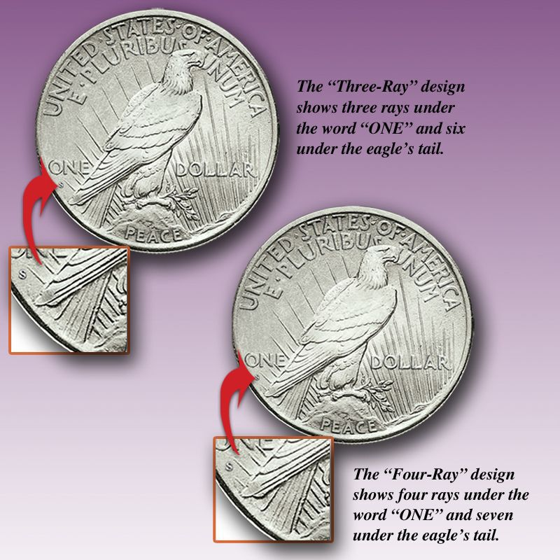The Only San Francisco Mint Four Ray Silver Dollar PFR 2