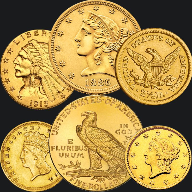 Historic U S Gold Coins