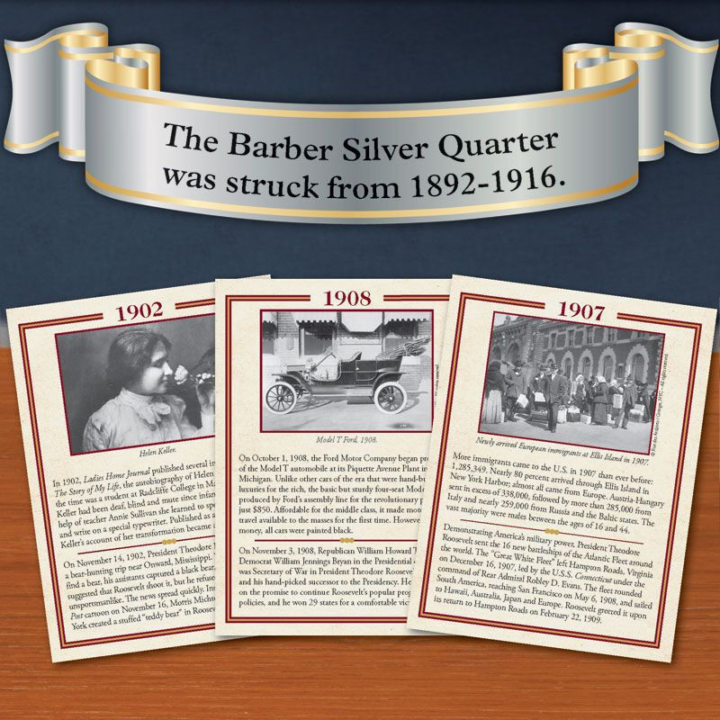 The Complete Barber Silver Quarter Collection BQC 4