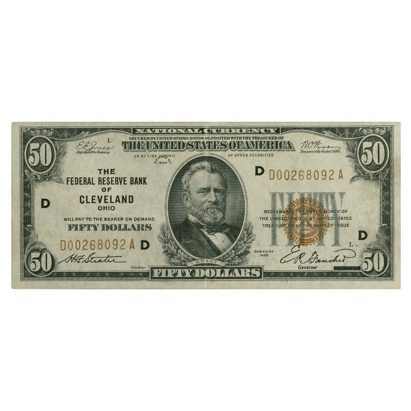 Depression Era High Value US Currency HDN 6