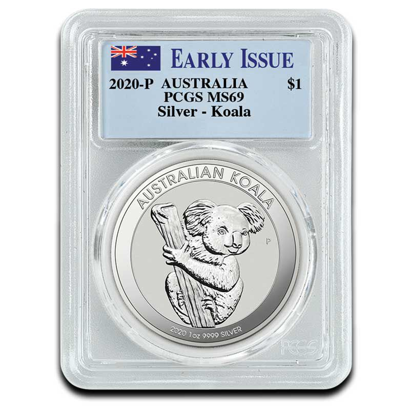 The 2020 Early Issue Australian Silver Dollar Set A20 3