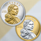 Platinum  Gold Highlighted Sacagawea Dollars NPG 1