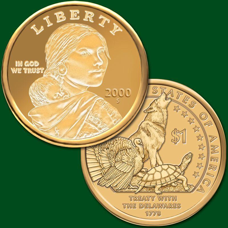 The Complete Collection of Sacagawea Dollars PNA 1