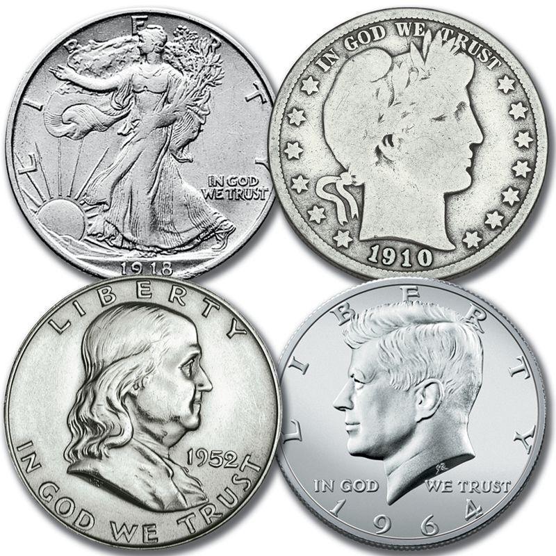 50 Years of Historic US Silver Half Dollars SH5 1