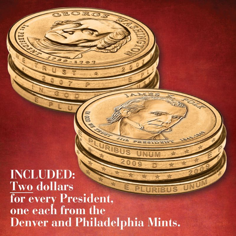 The Complete US Presidents Coin Collection PCU 3