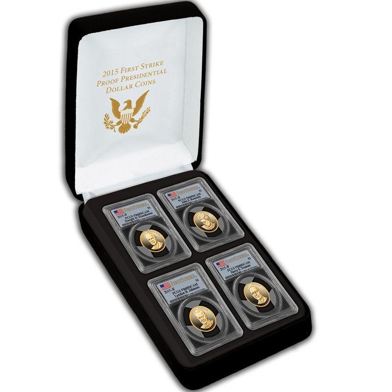 2015 First Strike Proof Presidential Dollar Coins PFS 2
