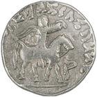 ancient king azes silver drachm AAZ a Main