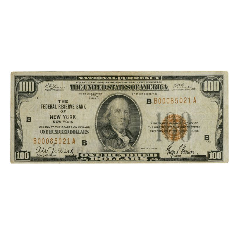 Depression Era High Value US Currency HDN 2