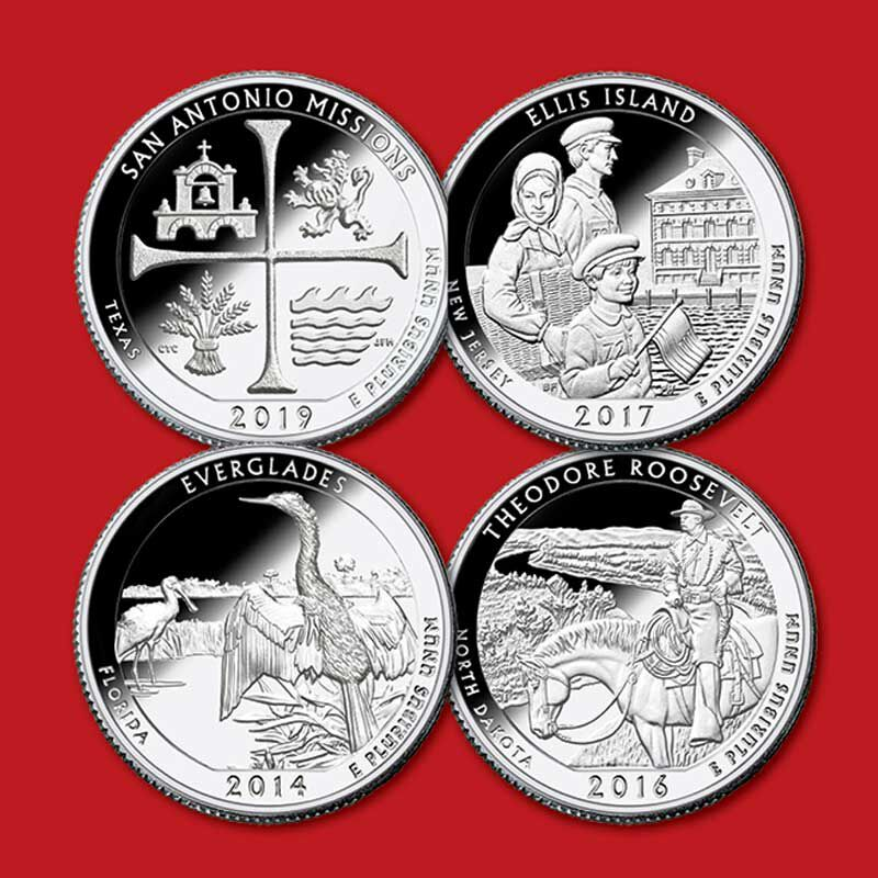 US National Parks State Quarters Deluxe Edition AQU 2
