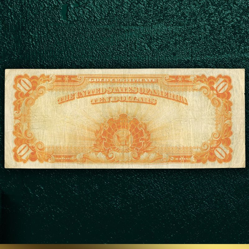 Americas Only Large Size 10 Gold Certificate LGC 2