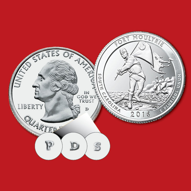 US National Parks State Quarters Deluxe Edition AQU 1