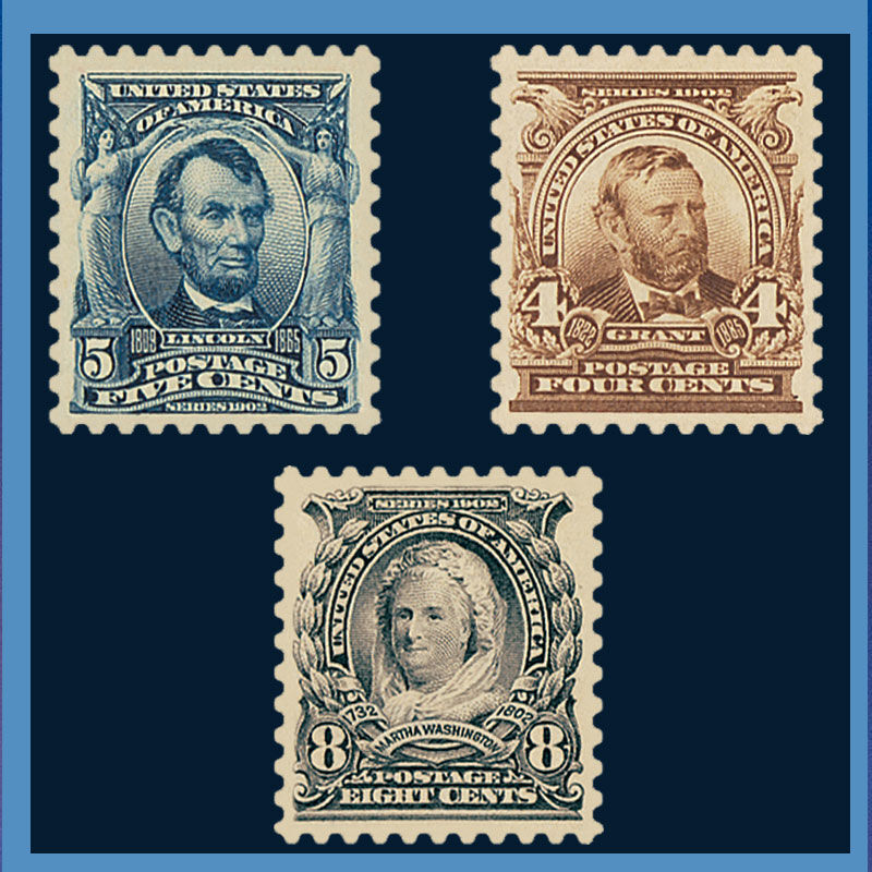 The First Regular Issue US Stamps of the 20th Century TCR 1