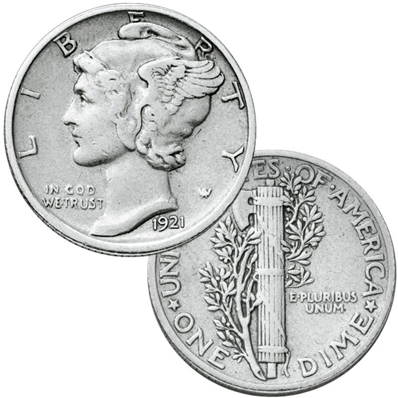 The Complete Collection of Silver Mercury Dimes MRC 1