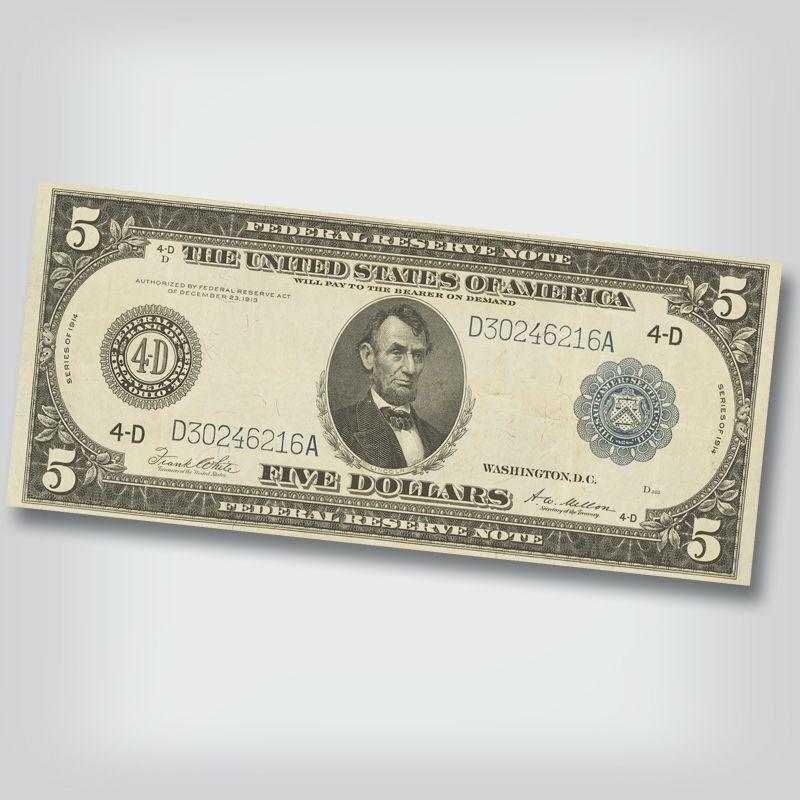 Last Large Size Federal Reserve Notes FRL 3