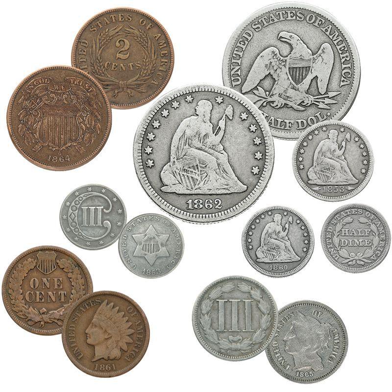 Civil War Era US Coins CWO 1