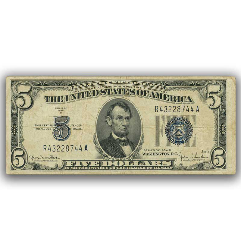 The Complete Set of Small Size Five Dollar Bills SFT 2