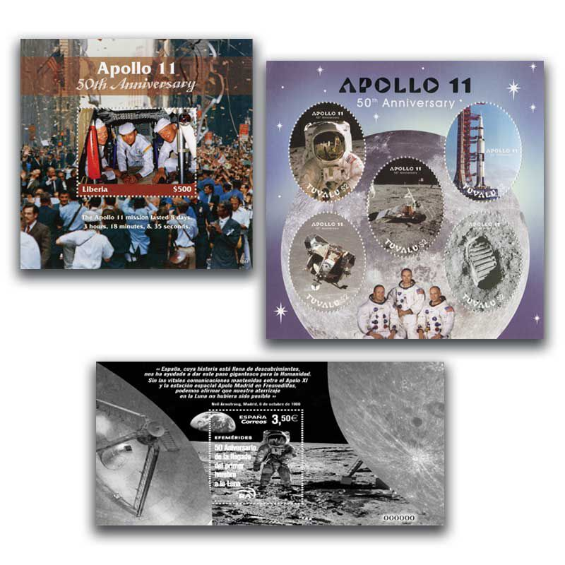 The Moon Landing International Stamp Collection SML 2