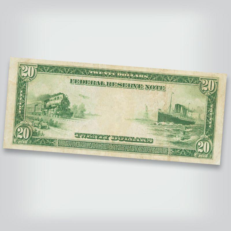 Last Large Size Federal Reserve Notes FRL 2
