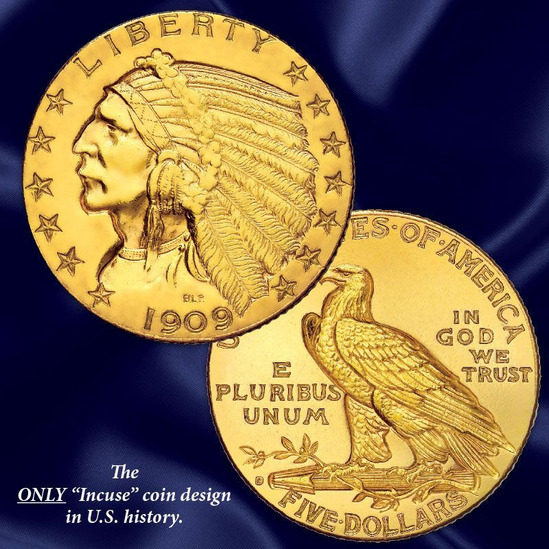The US Indian Head Gold Coin Collection GHI 5