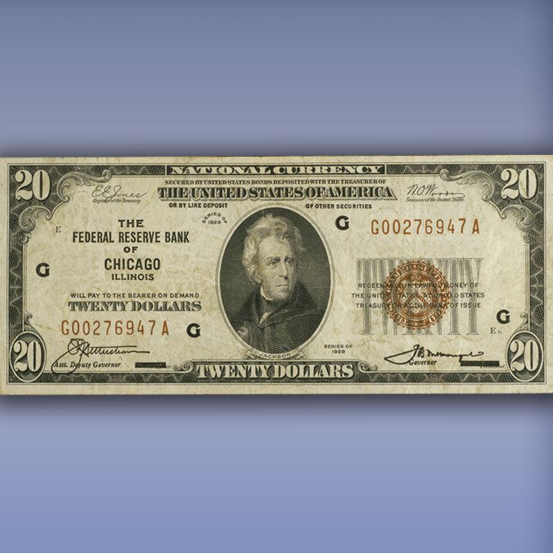 The Complete Denomination Set of 1929 Federal Reserve Bank Notes FR9 4