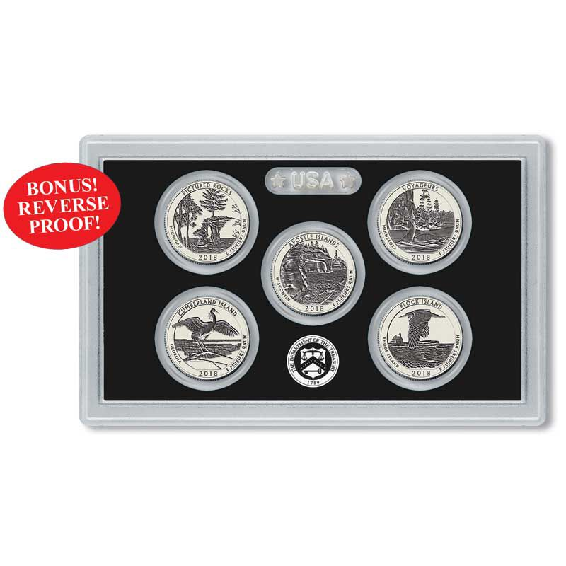 The Complete US National Parks State Quarters Silver Proof Set Collection ASP 2