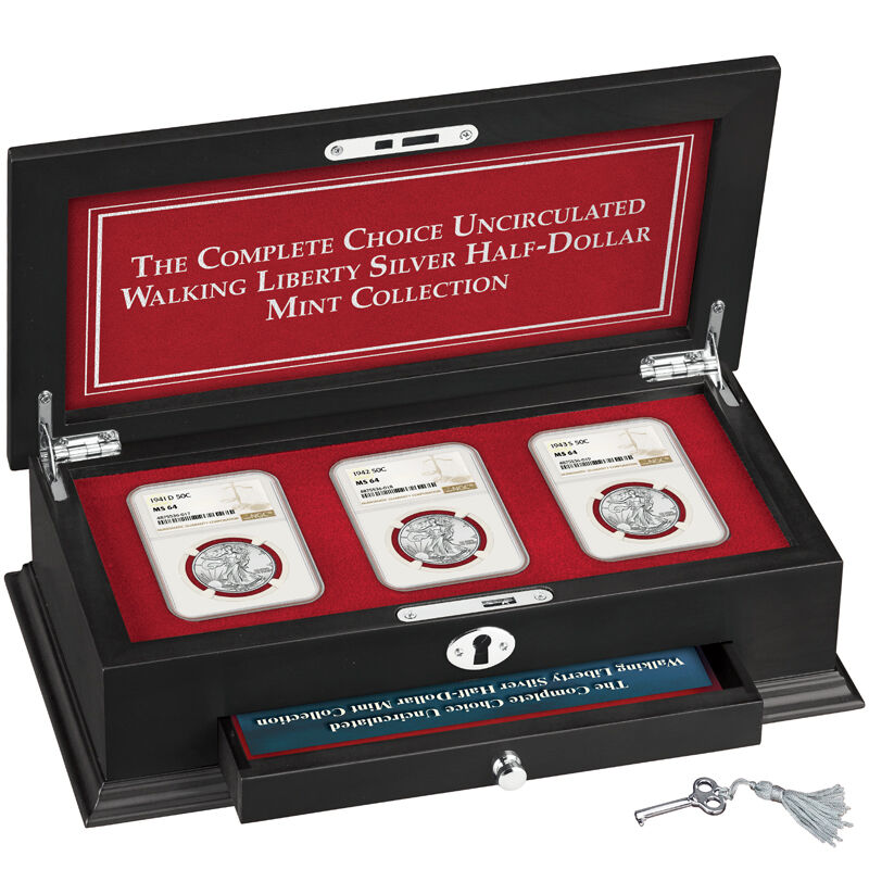 Complete MS64 Walking Liberty Silver Half Dollar Mint Collection W64 4