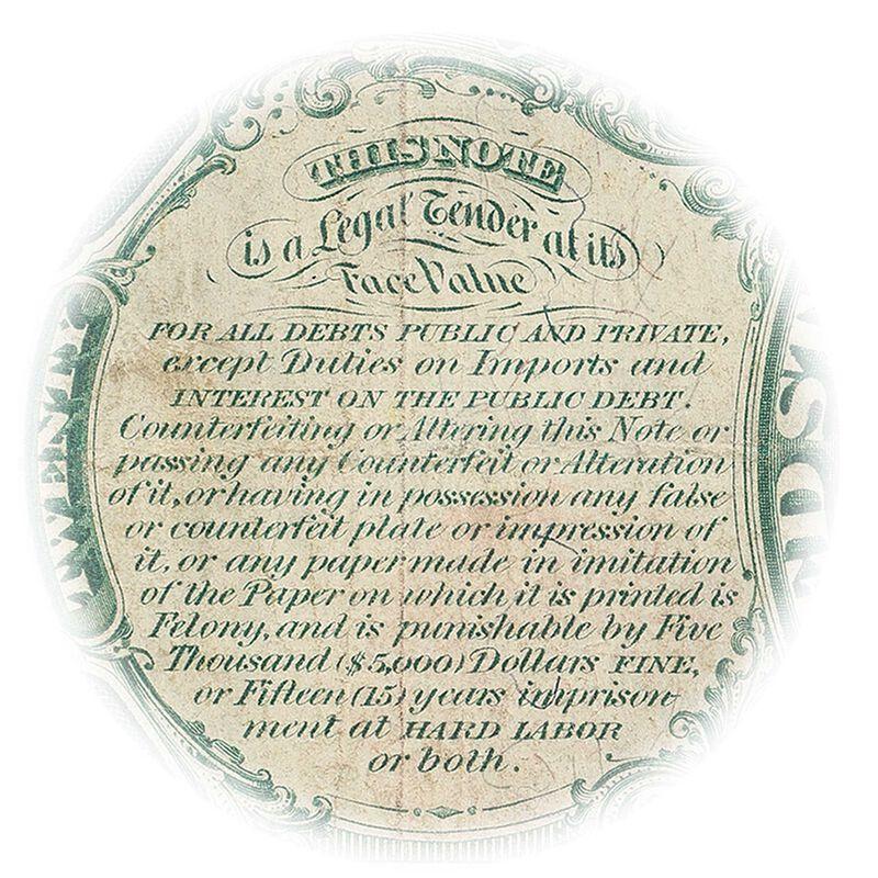 the last 20 dollar united states note LLT c Guarantee