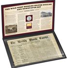 The Wild West Morgan Silver Dollar and Newspaper Set MNU 1