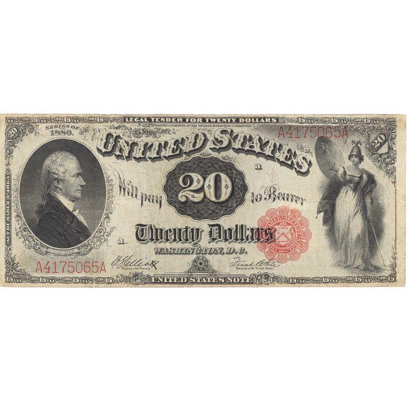 the last 20 dollar united states note LLT a Main