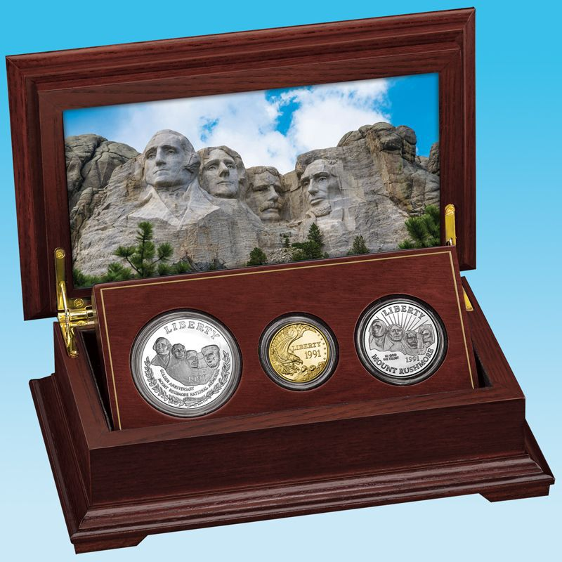 The Complete Set of Mount Rushmore Commemorative Coins MTR 4