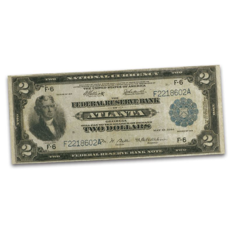 The Famous Two Dollar Battleship Note TFB 2