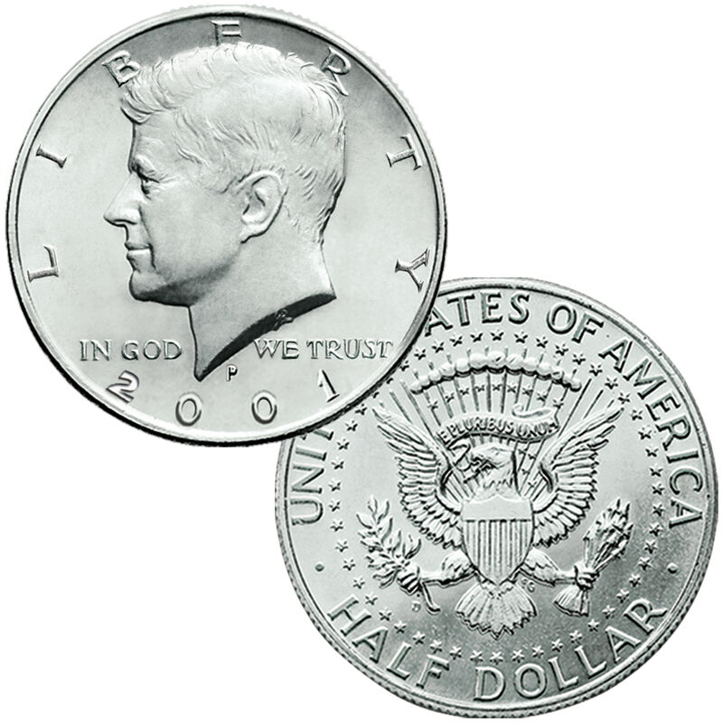 The John F Kennedy Uncirculated US Half Dollar Collection JK2 3