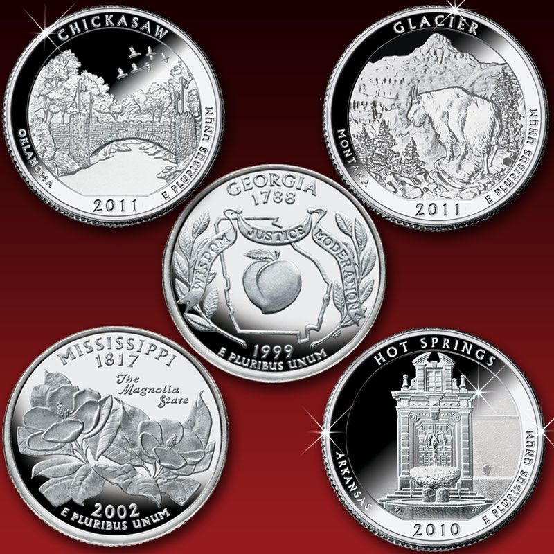 The Complete Collection of Silver Proof State Quarters ABB 1
