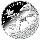 end of wwii 75th anniversary proof silver medal W2F a Main