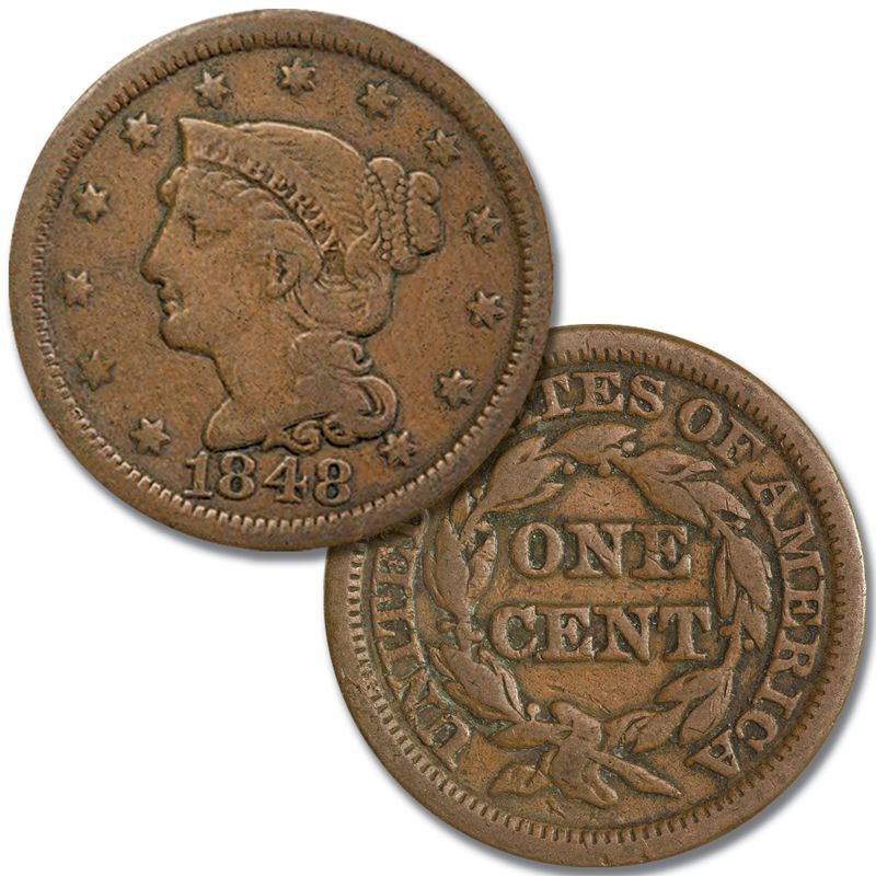 Two Centuries of US One Cent Coins TCP 1