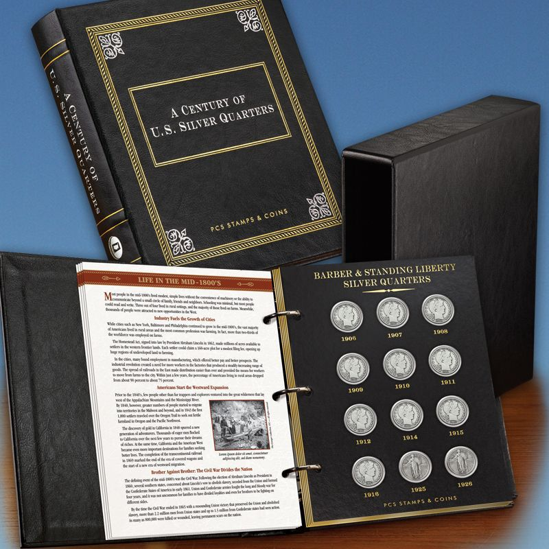 A Century of US Silver Quarters SQT 3