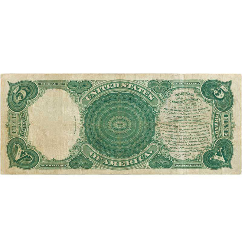 The Famous Five Dollar Woodchopper Note FLT 2