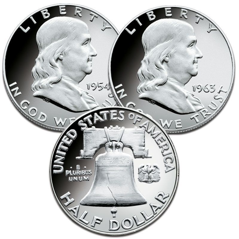 The Proof Franklin Silver Half Dollar Collection FRP 1