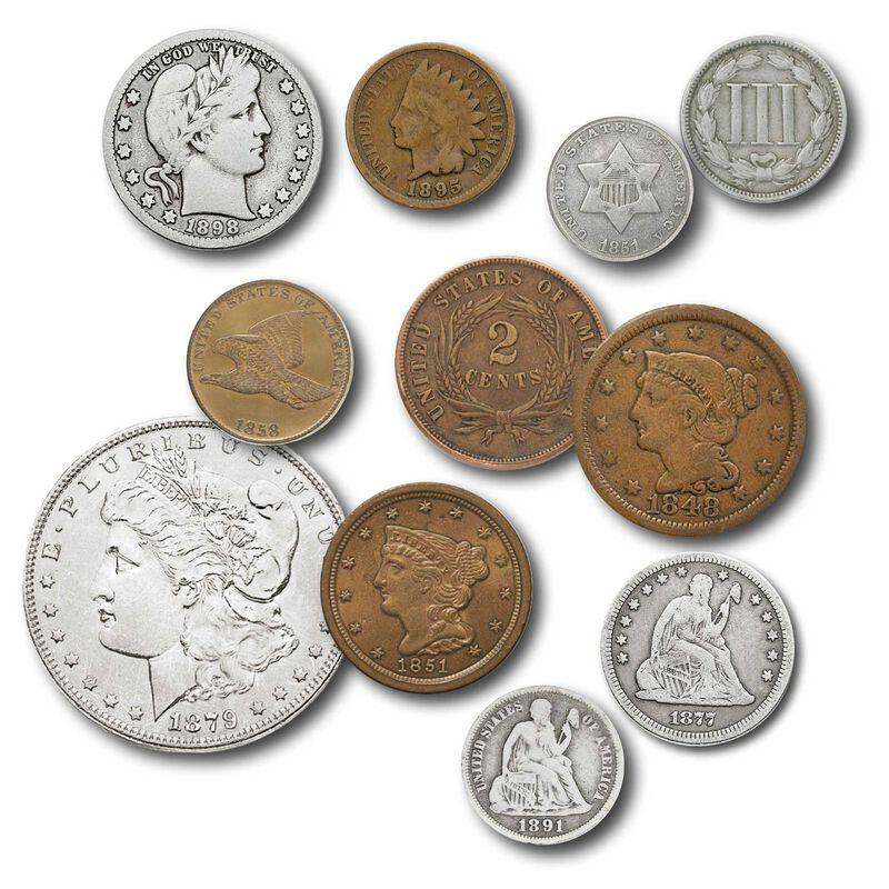 19th century us coins NCC a Main